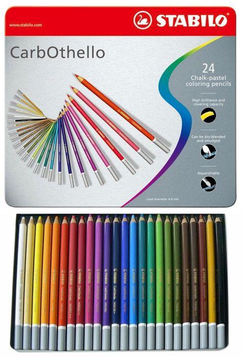 CARB OTHELLO PROFESSIONAL 24 SET - Метална кутия пастелни моливи 24цв