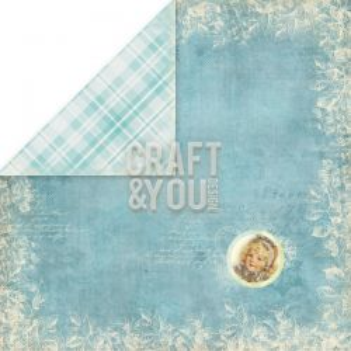 CRAFT & YOU # FROZEN PAPER - Двустранен дизайнерски картон 30,5 х 30,5 см.