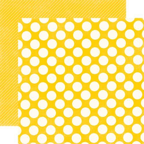 LARGE DOT LEMON - Дизайнерски скрапбукинг картон 30,5 х 30,5 см.