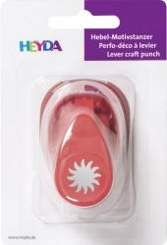 HEYDA Punch SUN  17mm - Дизайн пънч СЛЪНЦЕ S