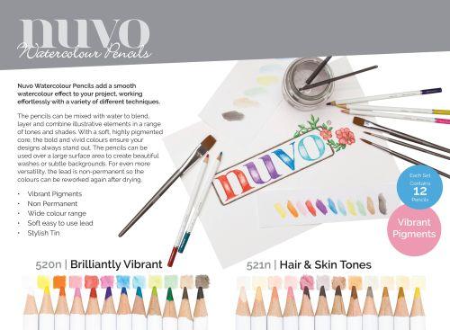 NUVO WATERCOLOUR COLLECTION - Акварелни моливи HAIR & SKIN TONES