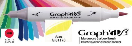 # GRAPH IT BRUSH MARKER - Двувърх дизайн маркери ЧЕТКА - SUN