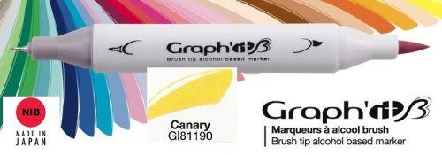 # GRAPH IT BRUSH MARKER - Двувърх дизайн маркери ЧЕТКА - CANARY