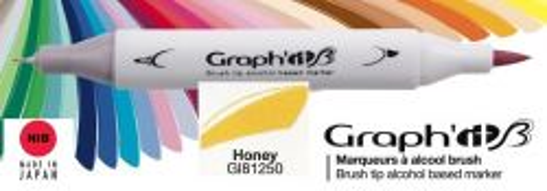 # GRAPH IT BRUSH MARKER - Двувърх дизайн маркери ЧЕТКА - HONEY