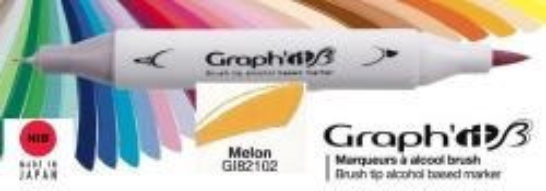 # GRAPH IT BRUSH MARKER - Двувърх дизайн маркери ЧЕТКА - MELON