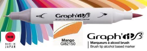 # GRAPH IT BRUSH MARKER - Двувърх дизайн маркери ЧЕТКА - MANGO