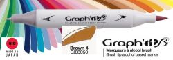 # GRAPH IT BRUSH MARKER - Двувърх дизайн маркери ЧЕТКА - BROWN 4