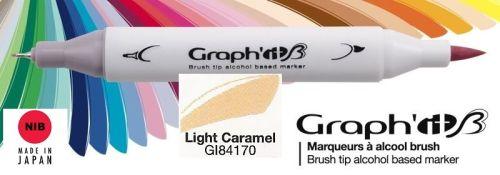 # GRAPH IT BRUSH MARKER - Двувърх дизайн маркери ЧЕТКА - LIGHT CARAMEL