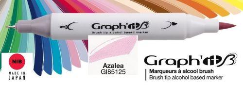 # GRAPH IT BRUSH MARKER - Двувърх дизайн маркери ЧЕТКА - AZALEA