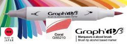# GRAPH IT BRUSH MARKER - Двувърх дизайн маркери ЧЕТКА - CORAL