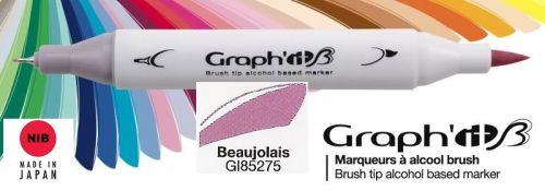 # GRAPH IT BRUSH MARKER - Двувърх дизайн маркери ЧЕТКА - BEAUJOLAIS