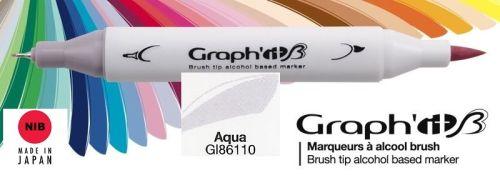 # GRAPH IT BRUSH MARKER - Двувърх дизайн маркери ЧЕТКА - AQUA