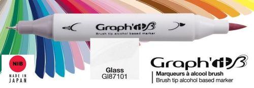 # GRAPH IT BRUSH MARKER - Двувърх дизайн маркери ЧЕТКА - GLASS