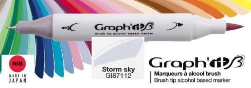 # GRAPH IT BRUSH MARKER - Двувърх дизайн маркери ЧЕТКА - STORM SKY