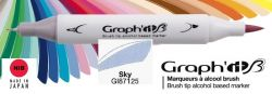 # GRAPH IT BRUSH MARKER - Двувърх дизайн маркери ЧЕТКА - SKY