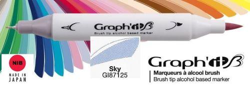 # GRAPH IT BRUSH MARKER - Двувърх дизайн маркери ЧЕТКА - SKY