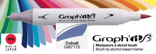 # GRAPH IT BRUSH MARKER - Двувърх дизайн маркери ЧЕТКА - COBALT
