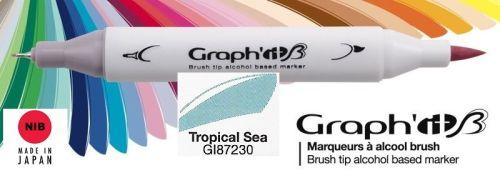 # GRAPH IT BRUSH MARKER - Двувърх дизайн маркери ЧЕТКА - TROPICAL SEA
