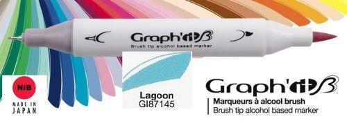 # GRAPH IT BRUSH MARKER - Двувърх дизайн маркери ЧЕТКА - LAGOON