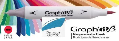 # GRAPH IT BRUSH MARKER - Двувърх дизайн маркери ЧЕТКА - BERMUDA