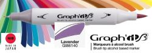 # GRAPH IT BRUSH MARKER - Двувърх дизайн маркери ЧЕТКА - LAVENDER
