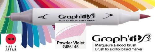 # GRAPH IT BRUSH MARKER - Двувърх дизайн маркери ЧЕТКА - POWDER VIOLET
