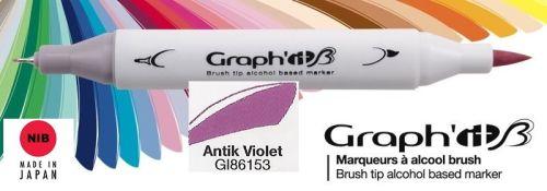# GRAPH IT BRUSH MARKER - Двувърх дизайн маркери ЧЕТКА - ANTIK VIOLET