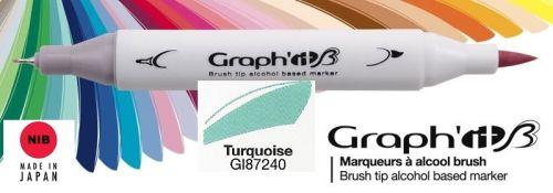 # GRAPH IT BRUSH MARKER - Двувърх дизайн маркери ЧЕТКА - TURQUOISE