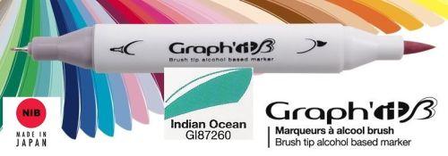 # GRAPH IT BRUSH MARKER - Двувърх дизайн маркери ЧЕТКА - INDIAN OCEAN