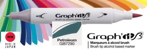 # GRAPH IT BRUSH MARKER - Двувърх дизайн маркери ЧЕТКА - PETROLEUM