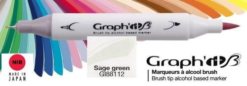 # GRAPH IT BRUSH MARKER - Двувърх дизайн маркери ЧЕТКА - SAGE GREEN