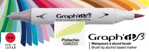 # GRAPH IT BRUSH MARKER - Двувърх дизайн маркери ЧЕТКА - PISTACHIO