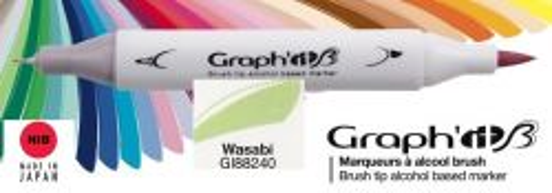 # GRAPH IT BRUSH MARKER - Двувърх дизайн маркери ЧЕТКА - WASABI