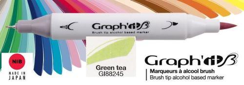 # GRAPH IT BRUSH MARKER - Двувърх дизайн маркери ЧЕТКА - GREEN TEA