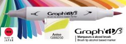 # GRAPH IT BRUSH MARKER - Двувърх дизайн маркери ЧЕТКА - ANISE
