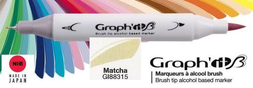 # GRAPH IT BRUSH MARKER - Двувърх дизайн маркери ЧЕТКА - MATCHA