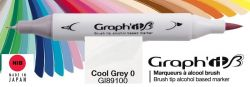 # GRAPH IT BRUSH MARKER - Двувърх дизайн маркери ЧЕТКА - COOL GRAY 0