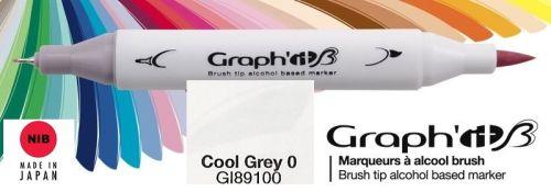 # GRAPH IT BRUSH MARKER - Двувърх дизайн маркери ЧЕТКА - COOL GRAY 0