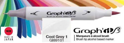 # GRAPH IT BRUSH MARKER - Двувърх дизайн маркери ЧЕТКА - COOL GRAY 1