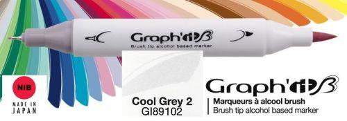 # GRAPH IT BRUSH MARKER - Двувърх дизайн маркери ЧЕТКА - COOL GRAY 2