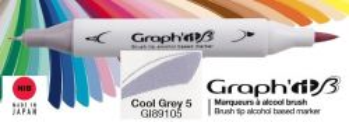 # GRAPH IT BRUSH MARKER - Двувърх дизайн маркери ЧЕТКА - COOL GRAY 5