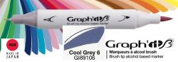 # GRAPH IT BRUSH MARKER - Двувърх дизайн маркери ЧЕТКА - COOL GRAY 6