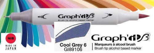 # GRAPH IT BRUSH MARKER - Двувърх дизайн маркери ЧЕТКА - COOL GRAY 6