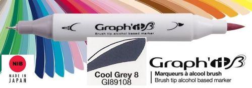 # GRAPH IT BRUSH MARKER - Двувърх дизайн маркери ЧЕТКА - COOL GRAY 8