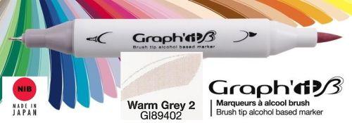 # GRAPH IT BRUSH MARKER - Двувърх дизайн маркери ЧЕТКА - WARM GREY 2