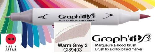 # GRAPH IT BRUSH MARKER - Двувърх дизайн маркери ЧЕТКА - WARM GREY 3