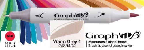 # GRAPH IT BRUSH MARKER - Двувърх дизайн маркери ЧЕТКА - WARM GREY 4