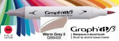 # GRAPH IT BRUSH MARKER - Двувърх дизайн маркери ЧЕТКА - WARM GREY 5
