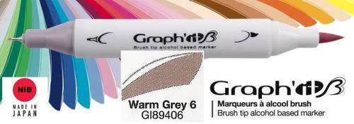 # GRAPH IT BRUSH MARKER - Двувърх дизайн маркери ЧЕТКА - WARM GREY 6