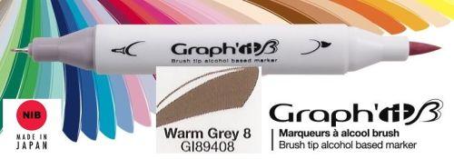 # GRAPH IT BRUSH MARKER - Двувърх дизайн маркери ЧЕТКА - WARM GREY 8